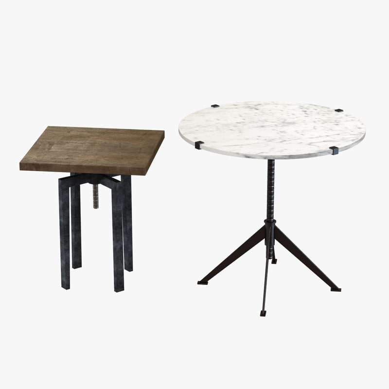 tables noir osten 3d max