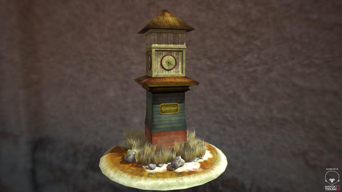 clock tower obj