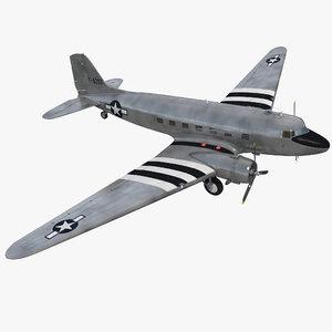douglas dc-3 air force 3d model