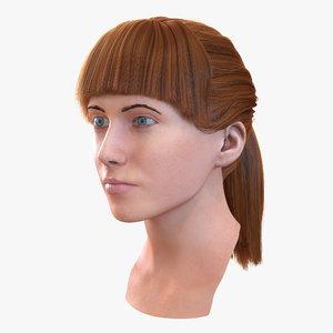 max female caucasian head hair