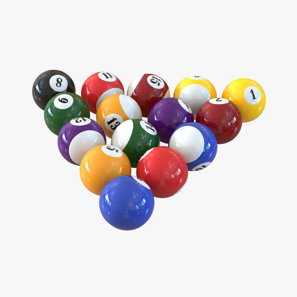 3d model billiard balls