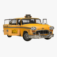 old nyc checker cab 3d model