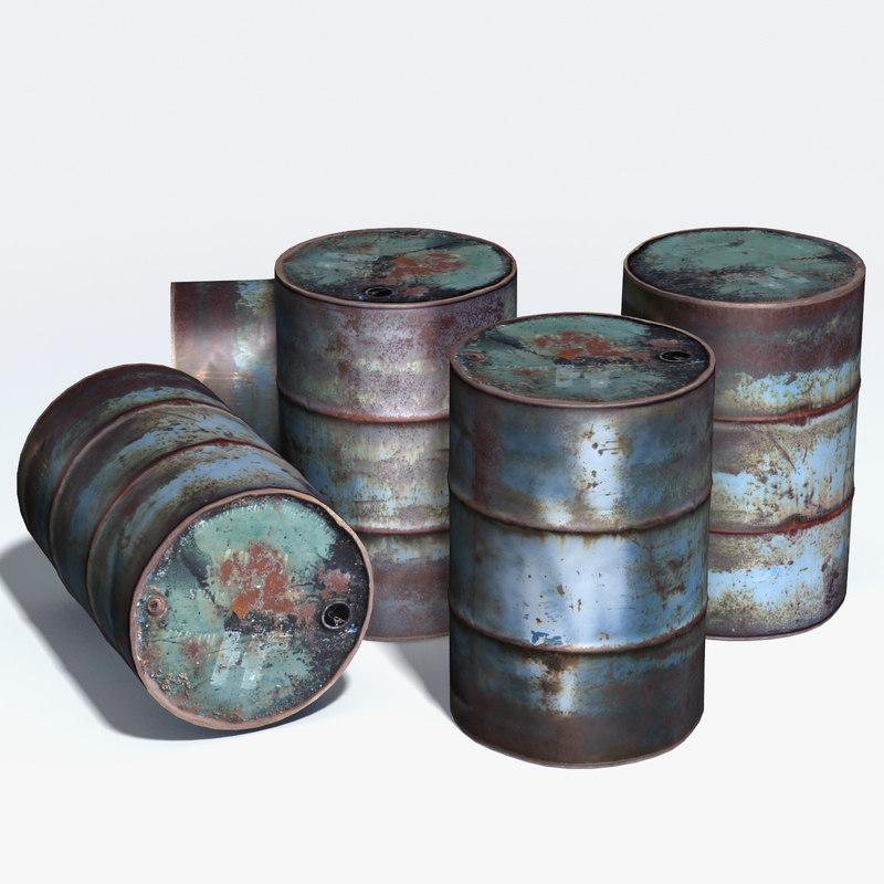 3d 3ds storage drum corroded