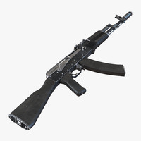 assault rifle ak 74 3d model