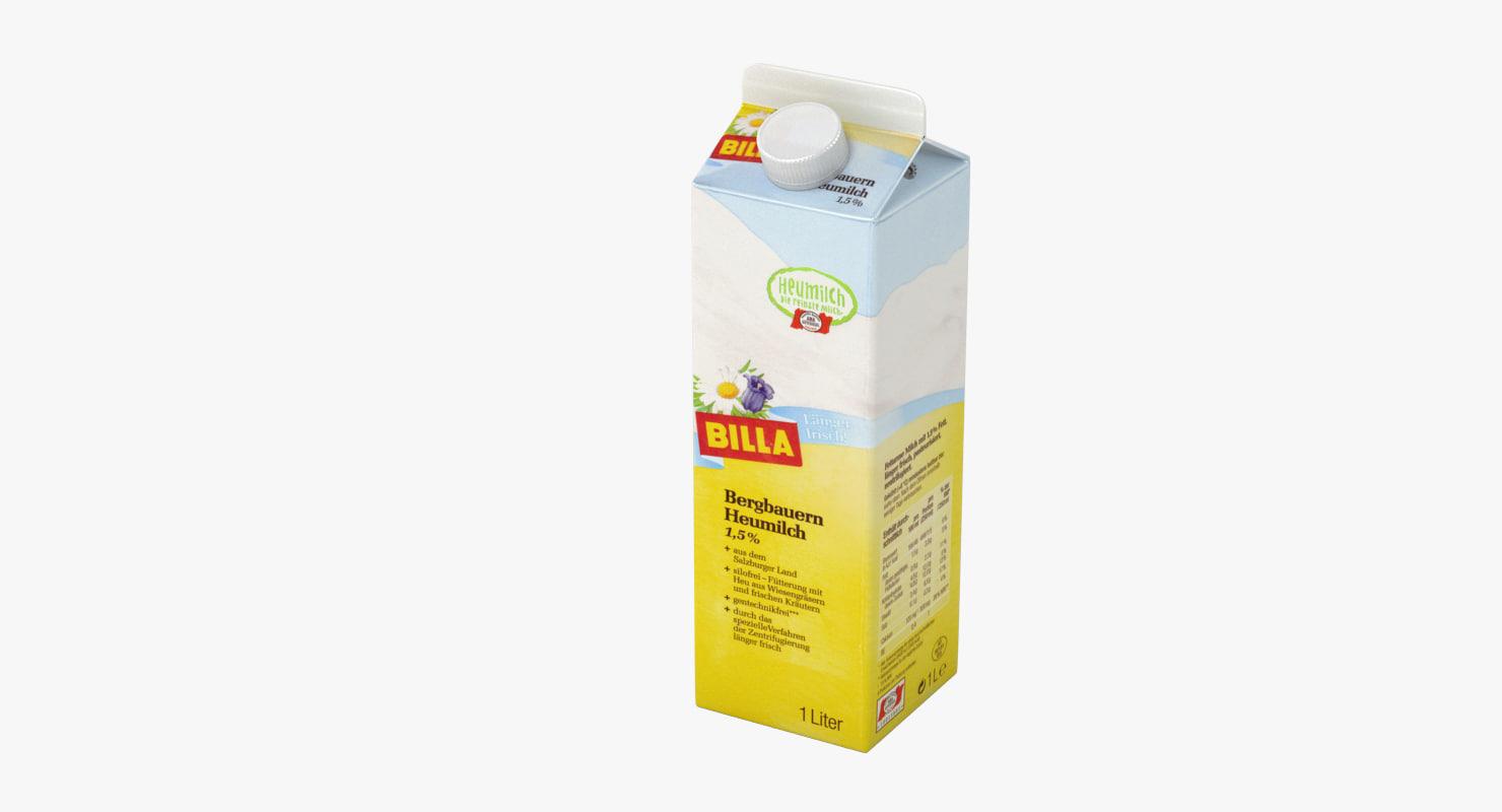3d model milk carton