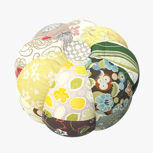 max patchwork pouf