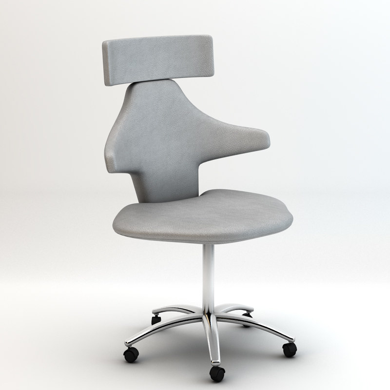 manicure chair 3d dxf