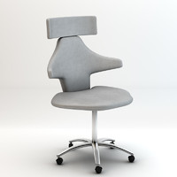 manicure chair 3d dxf