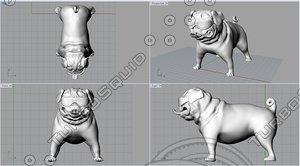 cool pug 3d model