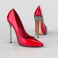 heel shoes 3d model
