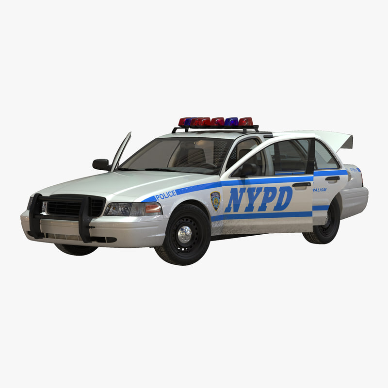 3d model generic police car nypd