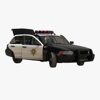 3d model generic police car 2