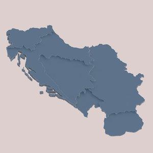 socialist yugoslavia 3d model