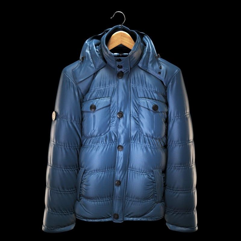 3d jacket hanging model