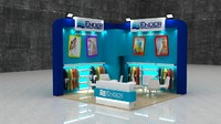3d max fair exhibition wooden stand