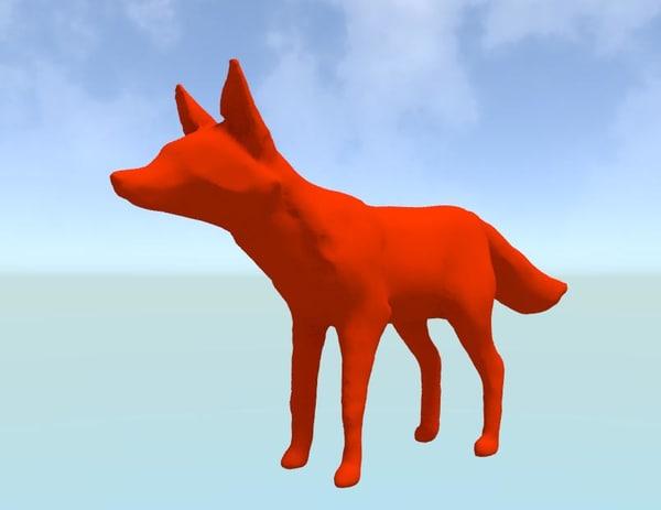 blend minimalist fox
