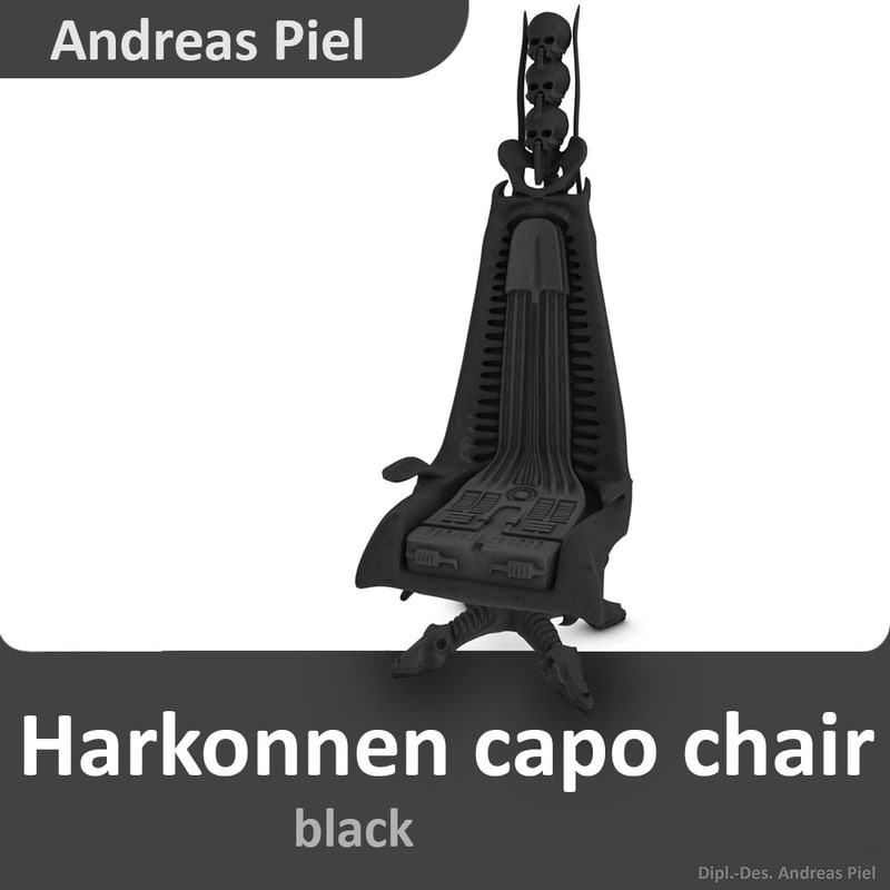 harkonnen capo chair 3d model
