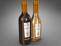 bottles 375 ml gallo 3d model