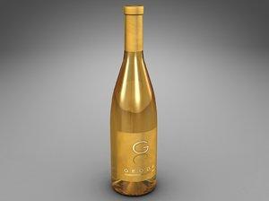 bottle geode 3d dxf