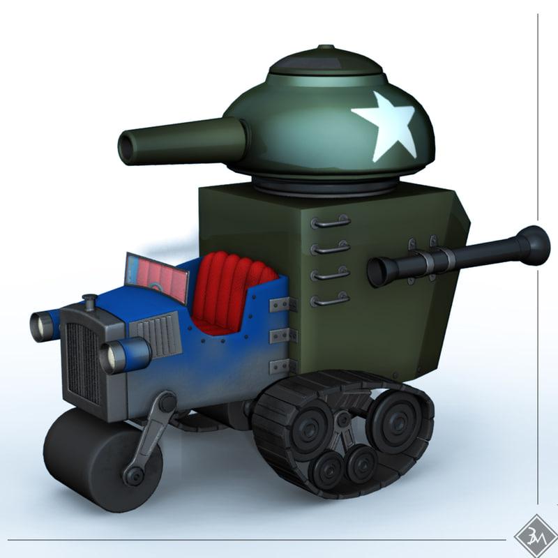 3dsmax surplus tank
