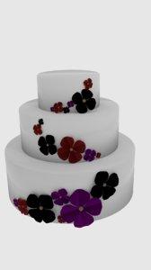 free cake flower 3d model