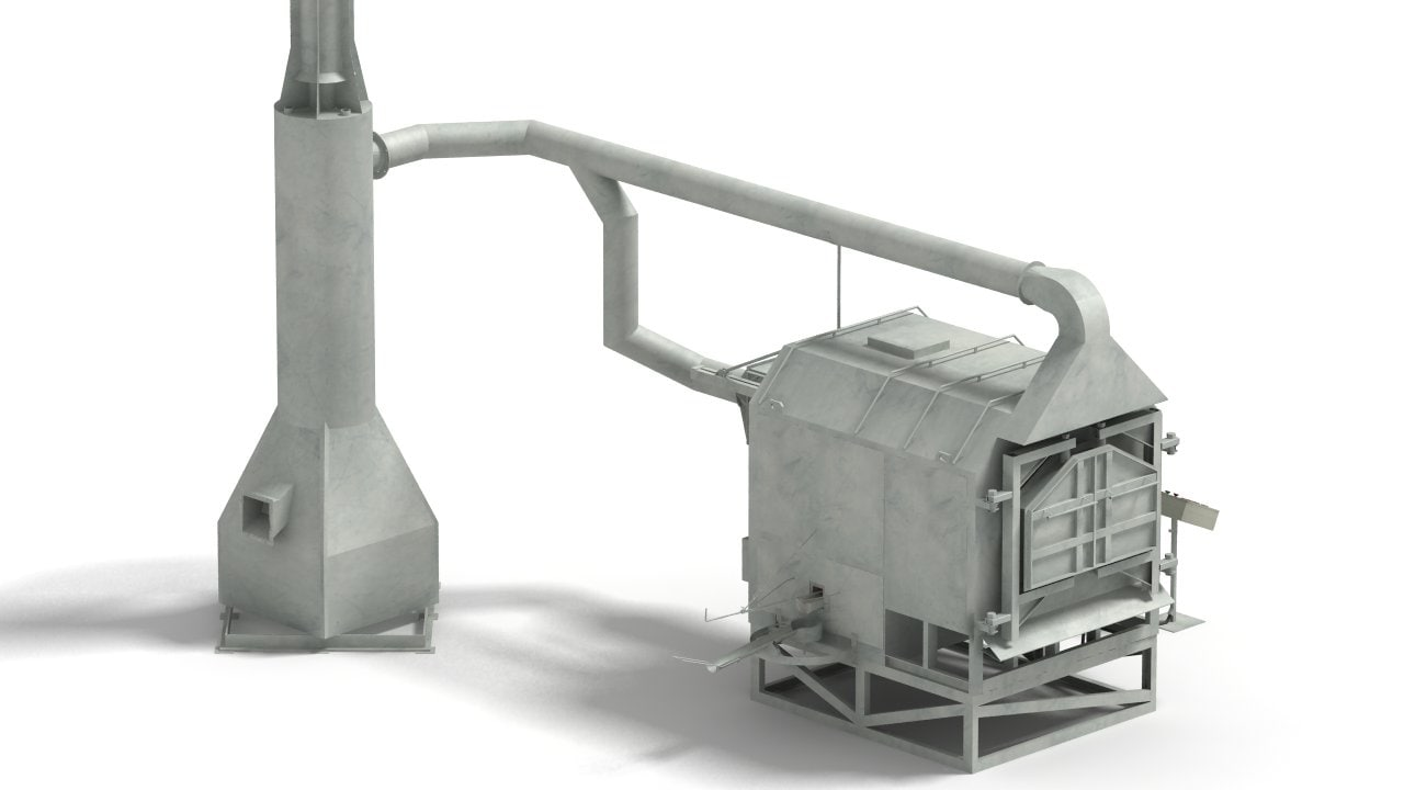 3d model metal melting furnace