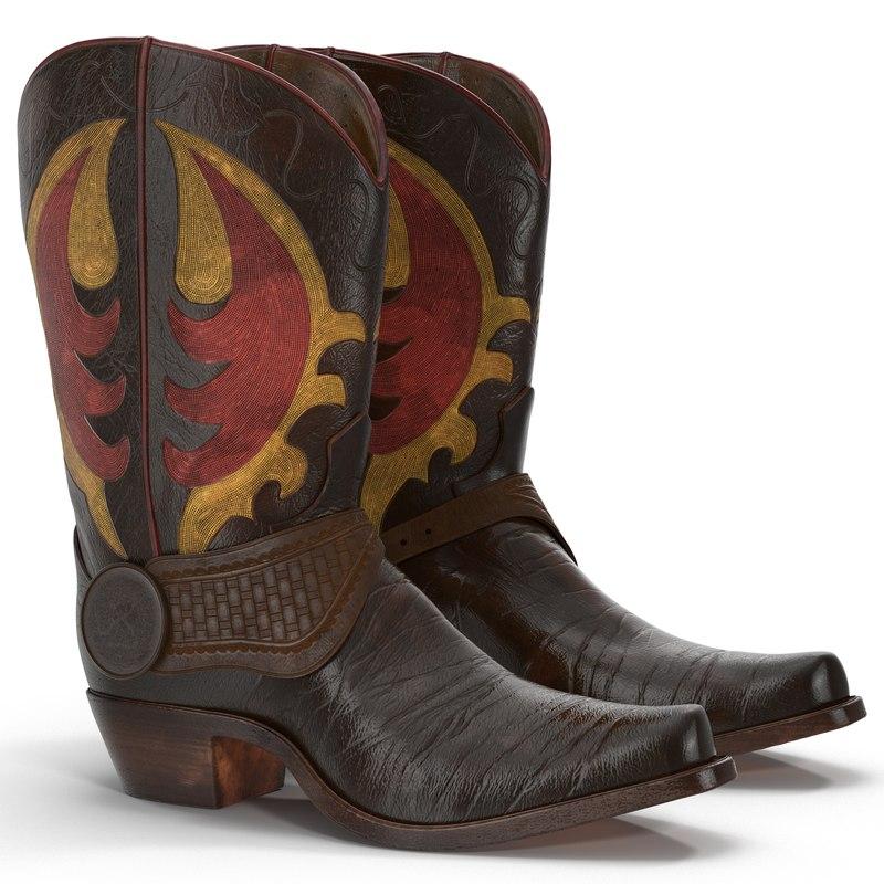 3d cowboy boots