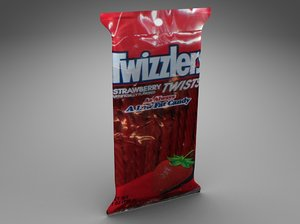 3d twizzlers licorice model