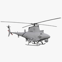 Northrop Grumman MQ 8B Fire Scout UAV Rigged 3D Model