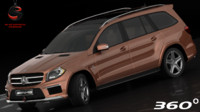 3d mercedes-benz gl63 amg interior model