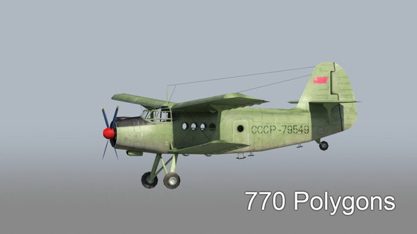 3d model transport aircraft an-2
