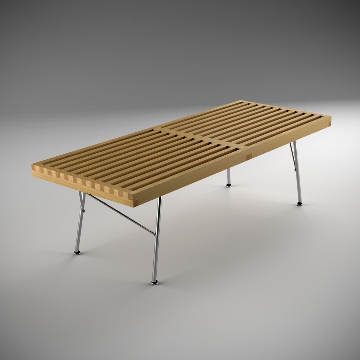 3d model nelson platform bench -