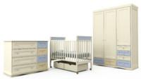 children s bedroom furniture 3d model