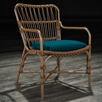 Palecek - Retro Rattan Dining Arm Chair