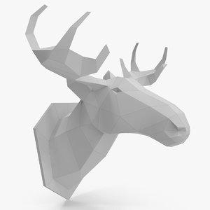 paper moose 3d max