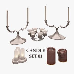 candle set 3d max