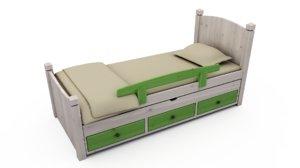teenager bed 3d model
