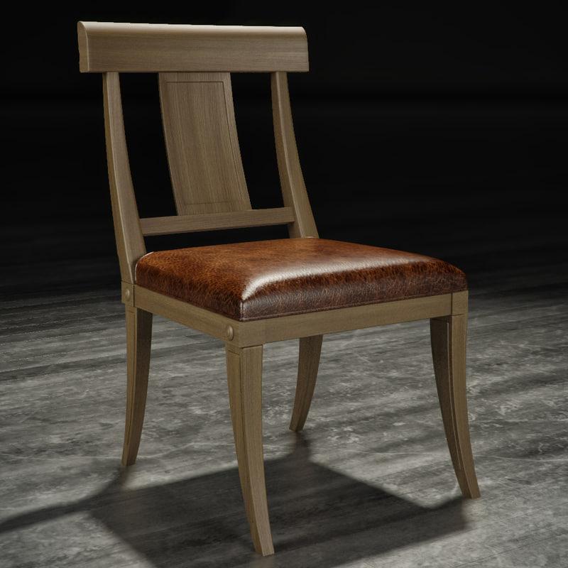 3d model klismos chair