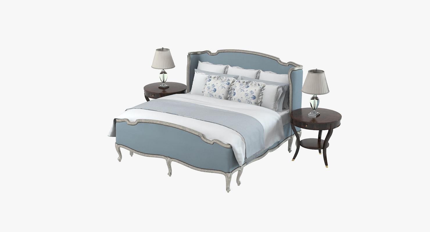 ralph lauren bedroom 3d model