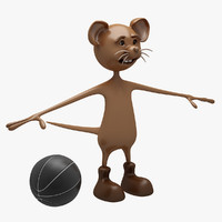 cartoon mouse 3d max