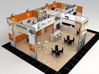 3d fair stand design maxima model