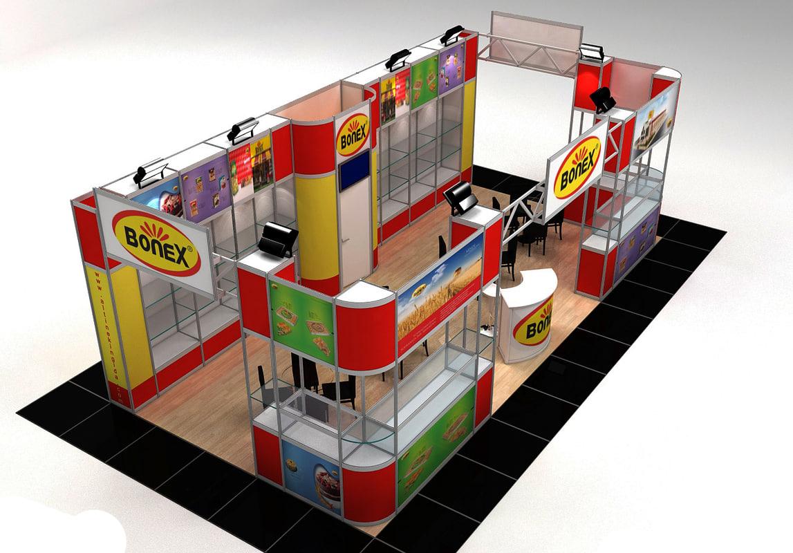 3d model fair stand exhibition moduler