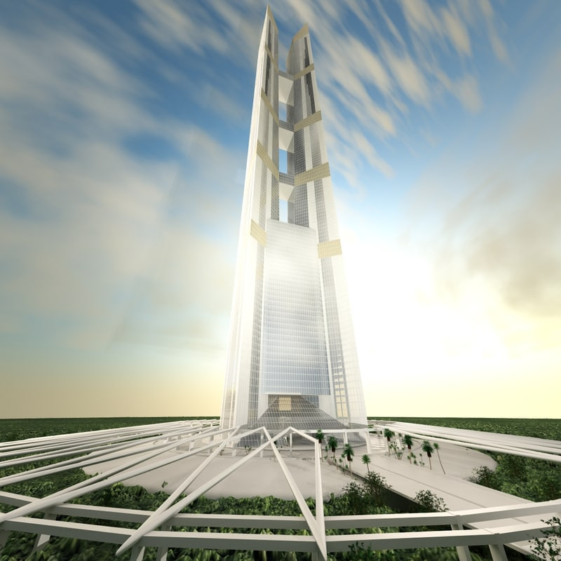 3d 102 incheon tower building architecture model