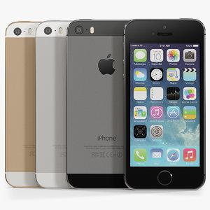 apple iphone 5s phone 3d max