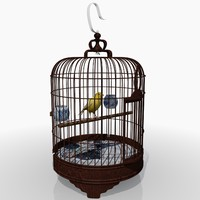 3ds max chinese bird cage canary