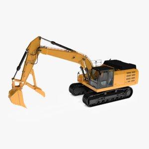 3d stiff thumbs excavator model