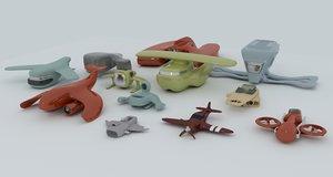 3d spacecrafts airplane