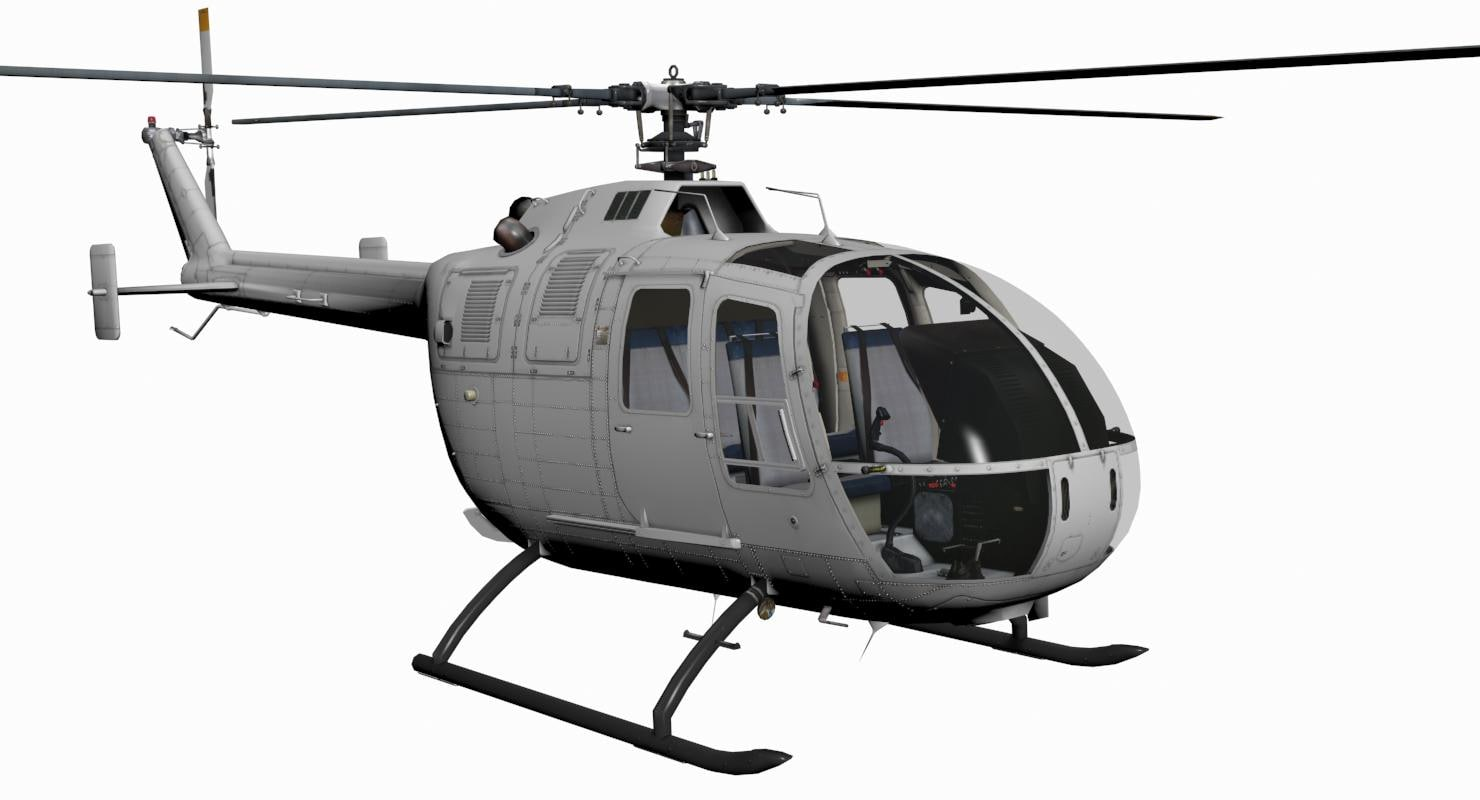 3d max mbb bo 105 rh turbosquid com BO-105 Helicopter Top View Bo 105 S