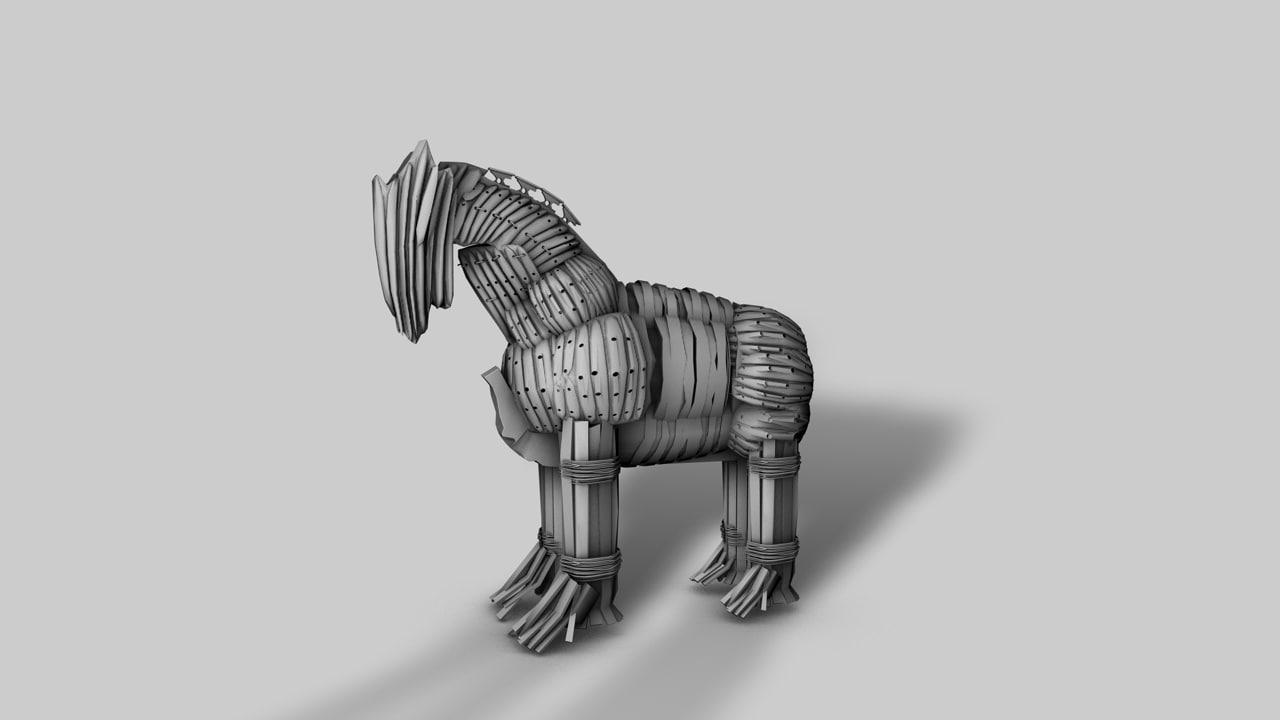 trojan horse 3d obj