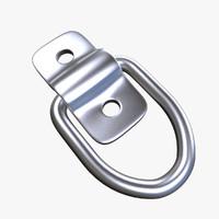 3d model duty tie-down d-ring